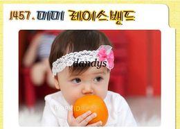 Descuento bandas para la cabeza de encaje blanco para bebés niñas bebé niño de encaje blanco accesorios del boutique lazo rosa vinchas hairband headwear envío libre
