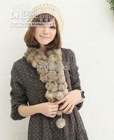 Wholesale 10pcs Women s Fur Scarves Fur Ball velvet Rabbit Long style Woman Winter white Scarves