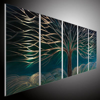 abstract metal art - METAL SCULPTURE ART WALL OIL PAINTING ABSTRACT ART WALL HUG MODERN ART L BLURE TREE