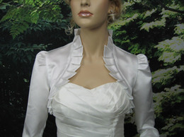 Wholesale Charming Elbow Sleeves Softly Many Colors Satin Wedding Bridal Bolero Jacket