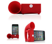 Wholesale Horn speaker Horn Stand Amplifier for iphone s with loud Speaker
