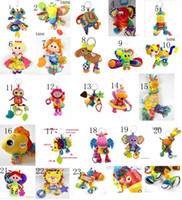 Wholesale 23styles Lamaze Toy Crib toys with rattle teether Infant Early Development Toy