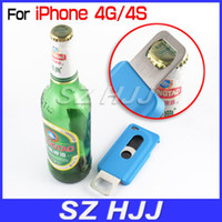 Wholesale Metal Beer Bottle Opener Case for iPhone4G GS Slide IN Out Hard Protective Back Cover