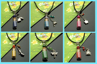 Wholesale Fairy Dust Bottles Assorted Designs wishing bottle necklace wishing bottle jewelry wish vials