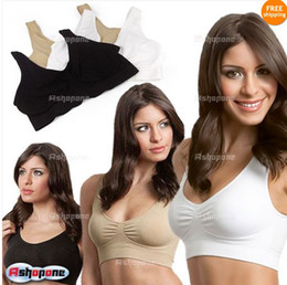 Wholesale New Cozy Seamless Sports Leisure Bra Support Vest White Black Nude Yoga