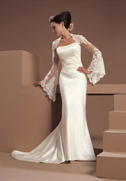 Wholesale Charming Long Sleeves Softly Many Colors Lace Wedding Bridal Wraps Hot On Sale