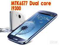 Wholesale MTK6577 i9300 Android S3 III inch cell phone GHZ MB Dual Core Mobile Smartphone