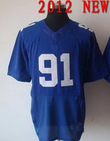 Cheap #91 have all team jersey 2012 new American Shirts Rugby football Jerseys blue color colossus