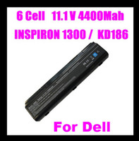 Wholesale 6 cell BATTERY FOR DELL INSPIRON B120 B130 HD438 KD186 XD187 XD184 TD611 TD612