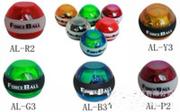Wholesale 60 x NEW Wrist Strength Exerciser LED Force Gyro Wrist Ball with Speed Meter More Colors
