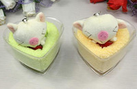 Wholesale Sweet Cake Towel Cute Pig Love Pattern Party amp Hoilday amp Valentine s day amp birthday amp wedding gifts