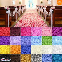 Wholesale 100pcs set Silk Rose Flower Petals Leaves Wedding Table Decorations