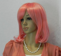 Wholesale NEW LIGHT pink FLAXEN MIX STRAIGHT WOMEN WIG WIG
