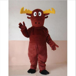 Wholesale 2012 Fast custom new MOOSE DEER Mascot Adult Costume by express Christmas