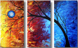 Abstract tree landscape scenery oil painting canvas handmade modern home office hotel wall art decor No Frame