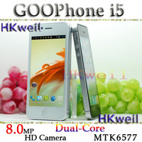 Wholesale Gooapple I5 Android Dual Core with MP HD Camera inch screen dual core MTK6577 Cell Phone