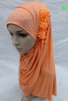 Wholesale lastest muslim flower scarf muslim hijab islamic hijab color
