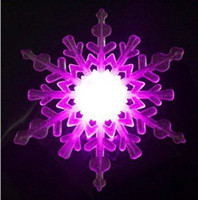 Wholesale Battery Operated christmas light Christmas Gift cm snowflake decoration Slow RGB Free EMS