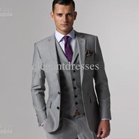 Wholesale men suit mens complete designer tuxedo Bridegroom jacket pant tie waistcoat