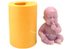3D cute baby Soft Silicone mold DIY handmade Soap Mold Mould For Moon cake cookie pudding Jelly mold silicone cake mold cake decorating tool from silicone mould soap cake baby suppliers