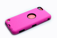 Wholesale Heavy Duty dustproof shockproo Silicon PC Hard Cases for touch5 Hybrid Case for Apple ipod touch