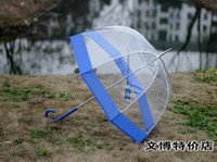 Wholesale 4Color Transparent border Clear Dome Birdcage contracted Move umbrella yyya