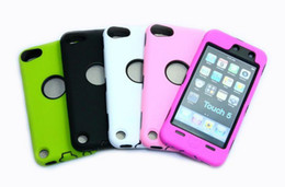 Wholesale Hybrid Case for Apple ipod touch Silicon PC Hard Cases for touch5 Heavy shockproof dustproof case