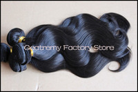 Wholesale Peruvian Virgin quot quot quot quot quot Hair Weft Weave Natural Color Remy Wavy Retail Discount