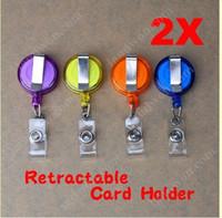 badge reels - Retractable Security Card Badge Holder Reels Anti Lost Clip Buckle