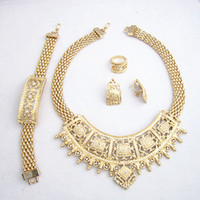 Wholesale 24K Gold Plated High Quality Big Goild Jewelry Wedding Party Dress Gold Jewelry