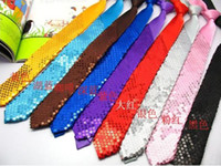 Wholesale Hot sale Korea men and women narrow ties thin ties leisure ties sequins ties stage ties colours