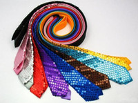 Wholesale 50pHot sale Korea men and women narrow ties thin ties leisure ties sequins ties stage ties colours