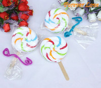 Wholesale Sweet Cake Towel Striped lollipop Party amp Hoilday amp Valentine s day amp birthday amp wedding gifts