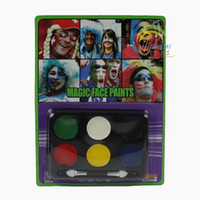 Wholesale masquerade supplies Halloween props six color paint color clown face paint bob store