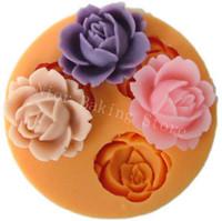 achat en gros de des moules de savon-3D Silicone Soap Moule Fleur fondant fondant Candy Jelly Cake Moule d'artisanat Moule de silicone pour tuld Moule de silicone pour les outils de décoration de gâteau