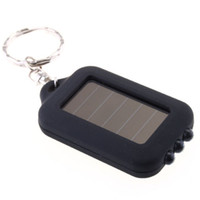 Wholesale 10pcs LED Key buckle Solar light keychain mini led solar light lamp H143B