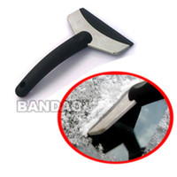 Wholesale Car ice Handle cleaning tools scraper stainless steel snow shovel edition travel product plastic