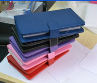 Wholesale Hot selling tablet leather USB keyboard with touch pen with stand for tablet pc