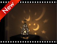 Wholesale New Classical iron metal candlestick Home Moon stars Candle Holder family decoration