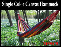 Wholesale Hot Sale Color Canvas Hammock With Stick Hang Sleeping Bed for Camping Outdoor