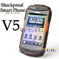 Shockproof Dustproof V5 Smart Phone Android With 3. 5Inch Cap...
