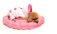 Wholesale promition sale Practical Soft Slumber Pet Plush Bolster Round Dual Purpose Nest Pet Dog Bed H0017