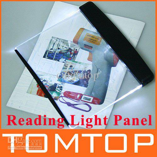 Led Light Wedge Panel Book Reading Lamp Paperback Night Led Night Book Reading Light