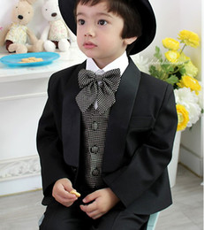 Wholesale Handsome Boys flower children s clothes get married the groomsman dress Boy suits Custom SIZE a