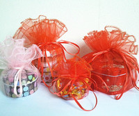 Wholesale 100pcs TOP Large size cm large round Wedding Favor Organza Gift Bags Jewelry Candy Pouchs Bags