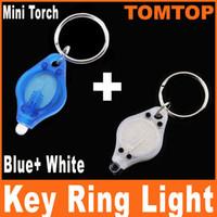 no blue led flashlights - Brand New LED White light mini flashlight torch White blue flash light with Keychain H882