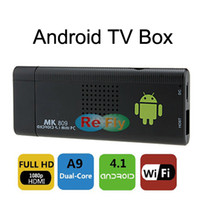 Wholesale High Quality Android TV Box MK809 MK802 III Google TV Player IPTV Mini PC RAM G ROM G Android