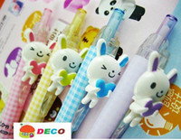 Wholesale Kawaii rabbit ball pen creative ball point pen mm refill Excellent quality Wholes