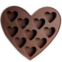 Wholesale Silicone cake mold muffin cupcake loving heart chocolate mould cake decoration Soap model