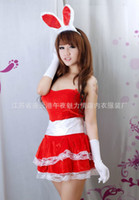 Wholesale 2012New Women Fashion Sexy lingerie Interest Charm The rabbit Christmas dress Underwear H50
